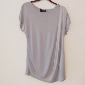Banana Republic gray top. Size large